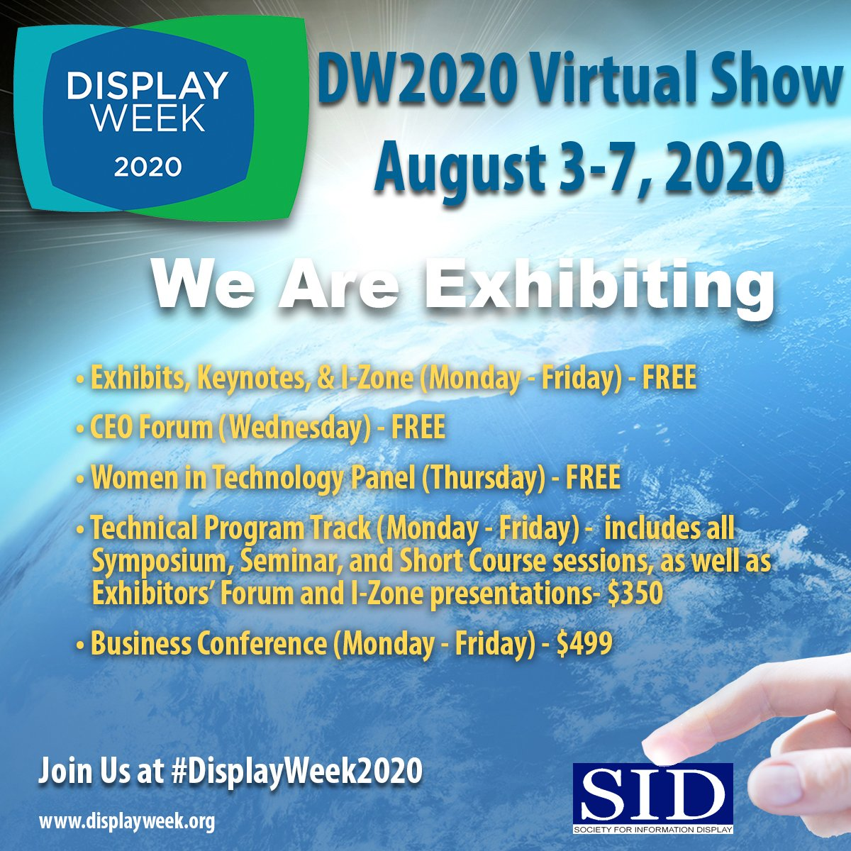 DW20 virtual _we are exhibiting